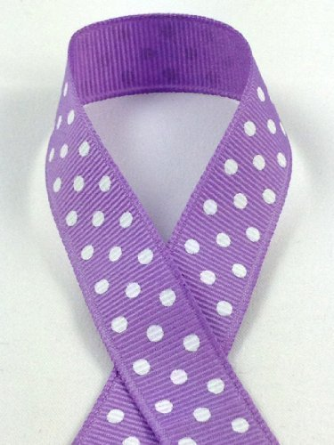 Schiff Bänder 44501-3 5/8 Zoll Fashion Polka Dot Grosgrain 10-Yard Dark Orchid/White (8 Ribbon-grosgrain 3)