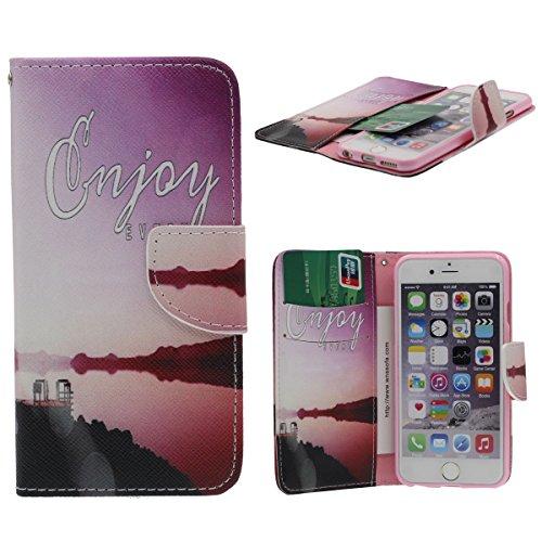 Folio Flip Coque Case pour Apple iPhone 6 Plus 6S Plus 5.5