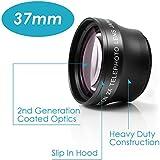 Neewer® 37mm Téléobjectif 2X PROFESSIONEL HD pour Appareils photo et Caméscopes avec 37mm Objectif