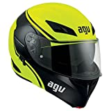 AGV Casco Moto Compact St E2205 Multi PLK, Course Yellow/Black, XS