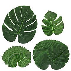 Idea Regalo - htianc 30Pack artificiale foglie tropicali e la palma foglie giungla festa hawaiana spiaggia a tema decorazioni Informazioni sul prodotto