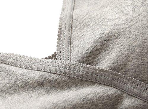 Topwhere® Damen Drahtlos BH Krankenpflege -Behälter -Schlaf-BH für Mutterschaft and UnterwäSche (XL/38B,38C,38D, Black) Grey+Black