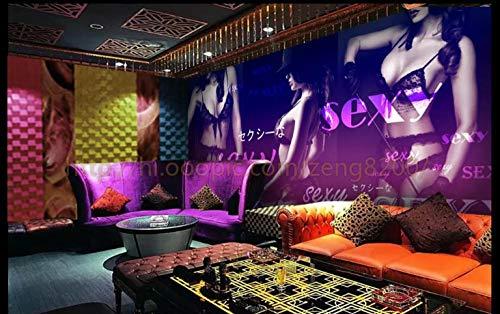 Apoart 3D Wandtapete Sexy Dessous Sex Fünfzig Grad Schwarz Ktv Hintergrundwand 400Cmx280Cm