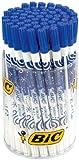 BIC Tintenlöscher (mit Korrekturspitze) Runddose à 60 Stück, weiß/blau
