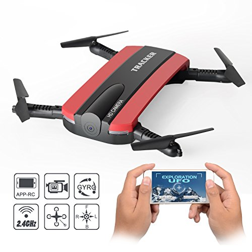 Dobladillo RC Quadcopter Drone, JXD 523W 2.4G 6-Axis Altitud Mantenga WIFI FPV...