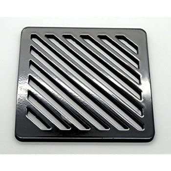 Stronger 220mm 22cm Square Solid Metal Steel Gully Grid Heavy Duty Drain Cover Grate Like cast Iron