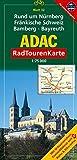 ADAC Radtourenkarte Rund um Nürnberg, Fränkische Schweiz, Bamberg, Bayreuth: 1:75000 -