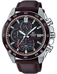 d84cf8fa9687 CASIO Reloj Cronógrafo para Hombre de Energía Solar con Correa en Cuero EFS -S500BL-