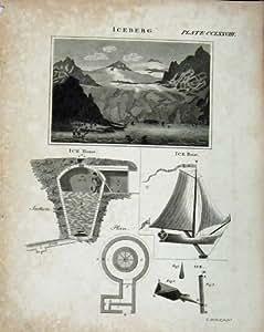 Dessins de Péniche d'Iceberg de Britannica d'Encyclopédie