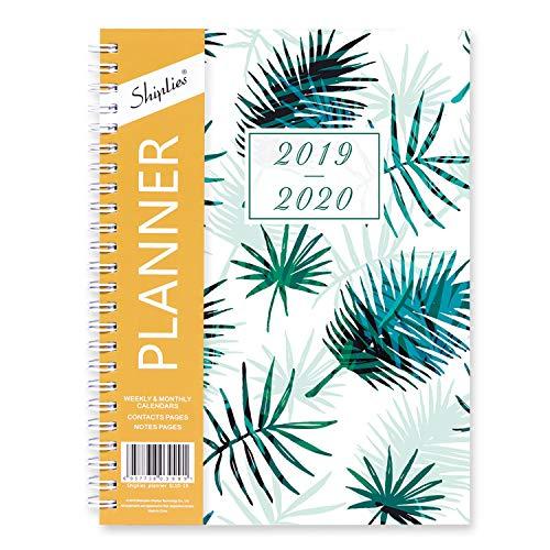Shiplies 2019-2020 - Agenda settimanale e mensile, formato A5, con 12 linguette mensili, 15 x 21 cm