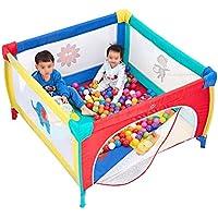 Parc- De Jeux pour Enfants Baby Playpen Clôture De Jardin 4 Panneaux avec Ballons Clôture Anti-Chute pour Tout-Petits, Taille en Option (Couleur : 120x120cm)