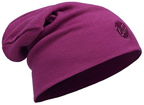 Buff Heavyweight Merino Wool Loose Hat Mütze, Solid Tibetan Red, One Size