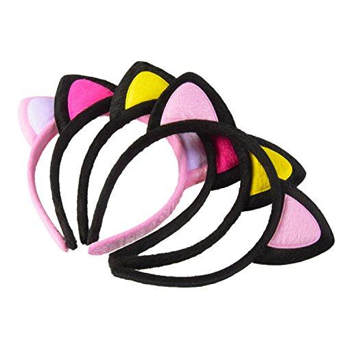 ze Ohren Stirnband Nettes Haar Zubehör für Kostüm Dressing Parteien, 4 Farben (Nette Kostüme)