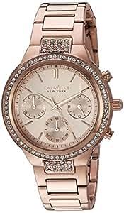 Donna Caravelle New York orologio color oro rosa 44L180