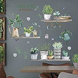 Wall Sticker Stickers Bedroom Dormitory Creative Supplies Decorative Wallpaper Painting self-adhesiveNordic Style Potted Plants_Big