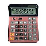Professioneller Digitalrechner, Dual Power 12-stelliger Digitaler Elektronischer Taschenrechner für Büro / Geschäft / Schule