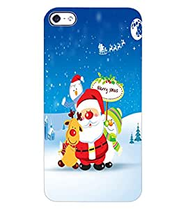 ColourCraft Merry Christmas Design Back Case Cover for APPLE IPHONE 4S
