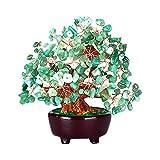 Baoblaze Figurine Arbre d'Argent Cristal Bonsai Pierre Précieuse à Quartz - Chinois Feng Shui Apporter Fortune Chance - 18 cm - Vert