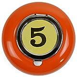 HAB & GUT ASH-3-Orange BILLARD Taschenascher - der Blech Aschenbecher to go - orange, Ø 6cm
