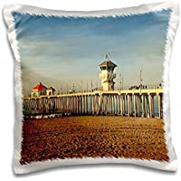 Sandy Mertens California - Huntington Beach Pier - 16x16 inch Pillow Case