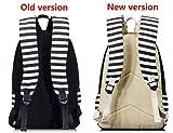 Leaper Unisex School Book Backpack Stripe Travel Backpack Rucksack Shoulder Bag Pencil Bag
