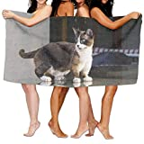 rongxincailiaoke Strandtücher Handtücher Bath Towel Soft Big Beach Towel 31'x 51' Unique Soft Cat Kitten Kitty Pet Pattern Design