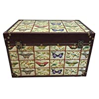 Home-ever Wooden Storage Chest, Trunk, Blanket Bedding Toy Box
