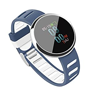 Fitness Tracker OLED Colorful Display SmartWatch With Blood Pressure Health Monitor Smart Watch Wristband Bracelet Heart Rate Pedometer Activity Tracker With Alarm Step Tracker Calorie Counter Sleep