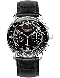 Zeppelin Unisex-Armbanduhr Chronograph Quarz Leder 7674-2