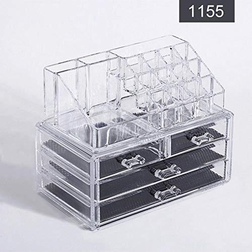 Boîte de rangement claire de maquillage, boîte d'affichage de bijoux de cas de stockage de produits de beauté pour des cosmétiques et des produits de beauté