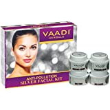 Vaadi Herbals Silver Facial Kit, Pure Silver Dust, Rosemary and Lavender Oil, Sandalwood Paste, 70g
