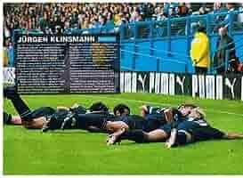 Tottenham Spurs Jurgen Klinsmann Diving NEW Poster