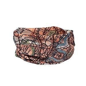 London Vintage Map – Multifunctional Headwear NECKWARMER Cycle Mask – RUFFNEK® – Unisex