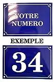 Akachafactory Autocollant Sticker Numero de Rue Boite aux a Lettre Plaque Personnalisable...