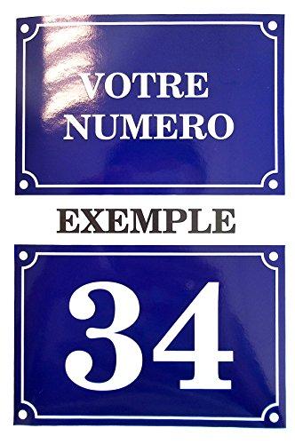 Akachafactory Autocollant Sticker Numero de Rue Boite aux a Lettre Plaque Personnalisable