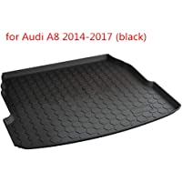 YCGLX Car Black Rubber Rear Trunk Boot Liner Mat for Audi Q7 2010 2011 2012 2013 2014 2015 Tailored Cargo Storage Mat Durable Protector Accessories