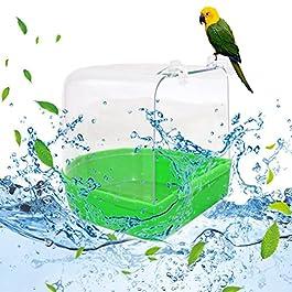 blendivt Vaschetta per Uccelli Parrot Vasca da Bagno Bird Cage Vasca Adatta per Piccoli Uccelli Peony Pappagallo Balneazione Pappagallo Forniture
