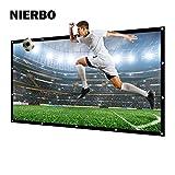 Projektionsleinwand, NIERBO Leinwand für Heimkino Beamer Gaming Streaming 3D HD Projektionsleinwand 16 9 227X132cm (100