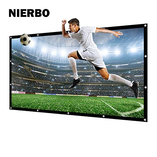"Projektionsleinwand, NIERBO Leinwand für Heimkino Beamer Gaming Streaming 3D HD Projektionsleinwand 16 9 227X132cm (100\"")"