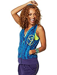 Zumba Fitness Damen Wt Outerwear Rep My Style Sleeveless Hoodie