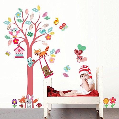 R00393 Adesivo murale per bambini Wall Art - Boschetto dei piccoli 2...