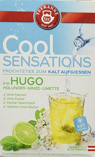 Teekanne Cool Sensations á la Hugo - kalter Tee - 18 Beutel Holunder-Minze-Limette, 5er Pack (5 x 41 g)