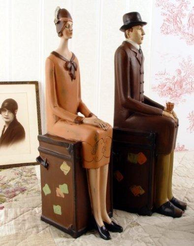 PALAZZO INT Zwei BUCHSTÜTZEN IM Art Deco Vintage Stil Shabby ANTIK - Zwei Buchstützen
