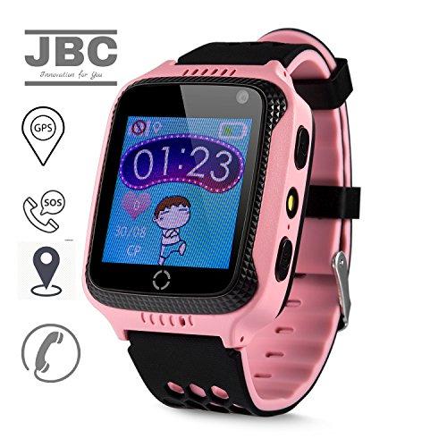 JBC GPS-Telefon Uhr OHNE Abhörfunktion, für Kinder, SOS Notruf+Telefonfunktion, Live GPS+LBS Positionierung, funktioniert weltweit,...