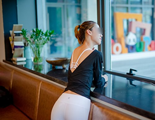 ZCJB Vestiti Da Yoga Con Maniche Lunghe Da Ballo Regolabile Da Donna A Due Lunghezze Da Donna ( Colore : Vino rosso , dimensioni : L. ) Nero