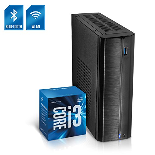 Kiebel Business Mini PC Nano 8.0 [190142] Intel Core i3 8100T 4x3.1GHz Quadcore, 8GB DDR4, 240GB SSD, Intel Grafik bis UltraHD(4K), HTPC, WLAN (433Mbit), Bluetooth, Energiespar Mini Computer