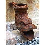 Antikas - desagüe de hierro para el tubo de bajada - gárgola como pez para la salida de canalón - animal agua hierro fundido