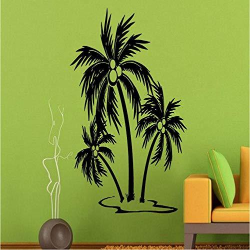 Kreative wand palm tree wandtattoos strand bäume badezimmer dekoration wandaufkleber wasserdicht wohnkultur kunst vinyl wandbilder