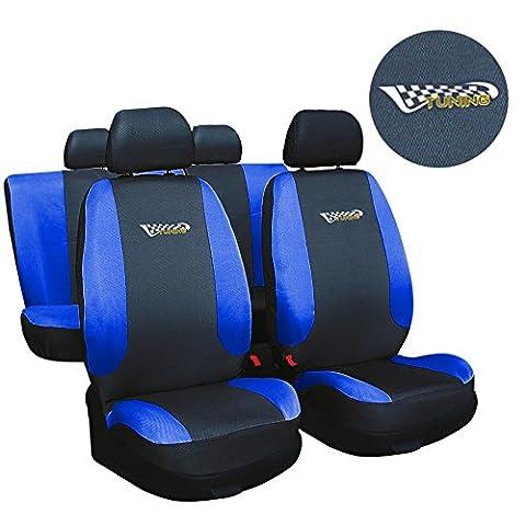 Fiat Seicento Blau TUNING Sitzbezüge Sitzbezug Schonbezüge
