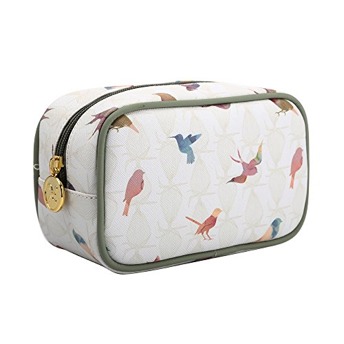 TaylorHe Make-up Bag Wasserdicht Kosmetiktasche Schminktasche Kulturbeutel Geldbeutel Beutel Mehrfarbig Tasche mit Mustern Vögel